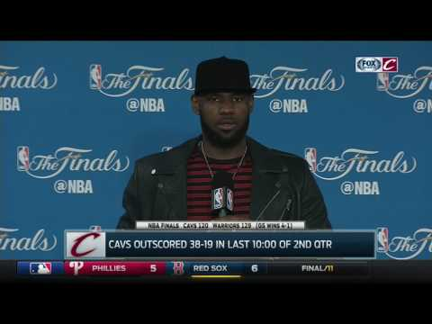LeBron James postgame after Game 5 loss to Warriors | NBA Finals 2017