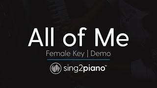 All Of Me (Female Key   Karaoke Demo) John Legend