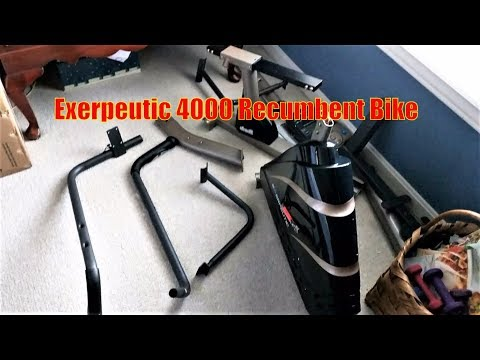 12 Workout Programs Exerpeutic 4000 Magnetic Recumbent Bike Assembly