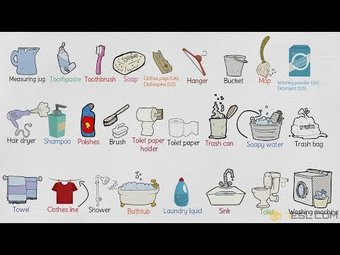 Bathroom Vocabulary in English | Things In the Bathroom