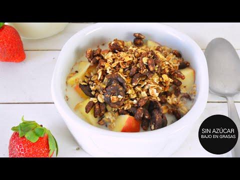 Receta De Granola De Chocolate Saludable Sin Grasas