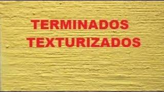 Exhibicion de terminados de pasta texturizada
