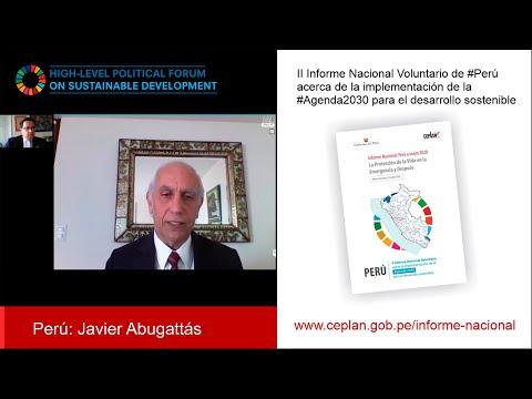 Perú presentó ante la ONU el II Informe Nacional de cumplimiento de la Agenda 2030