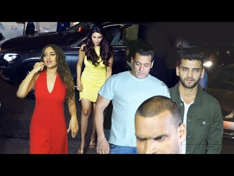 Salman Khan Night Party With Celebs At Zaheer Iqbal Birthday Celebration