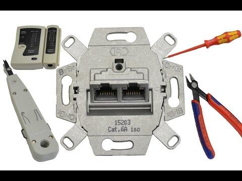 Netzwerkdose (UAE-Dose) anschließen /patchen - RJ45 - LAN-Dose