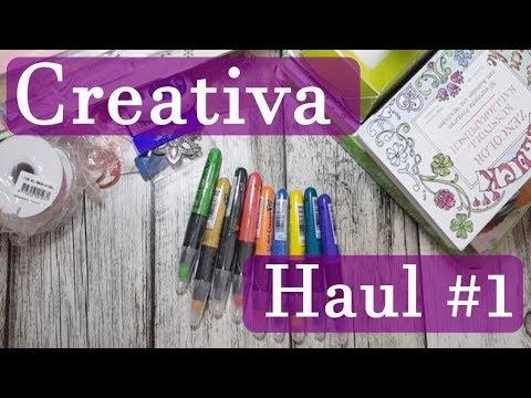 Creativa Haul #1 ✿ Wachsmalstifte für Aquarell ✿ Die Holländer ✿ Überraschungstüte ✿ Bastelmaterial