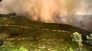 preview picture of video 'incendio de olivella'