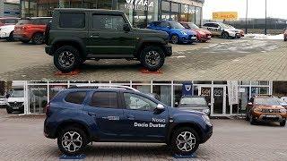 2019 New Suzuki Jimny All Grip Pro vs new Dacia Duster - 4x4 test on rollers