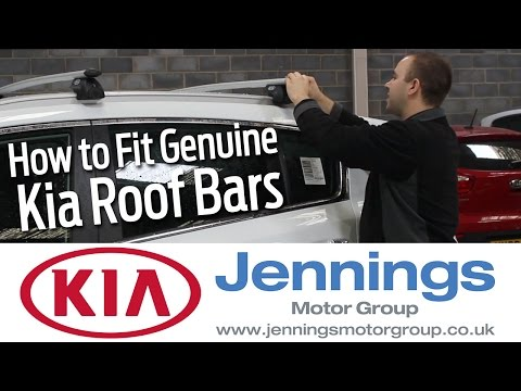 Genuine Kia Sportage Roof bars: How to fit