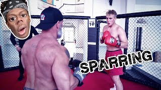 MY FIRST TRAINING SESSION FOR THE KSI FIGHT!!