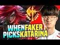 FAKER BRINGS BACK KATARINA! - SKT T1 Faker Plays Katarina vs Lissandra Mid! | S10 KR SoloQ