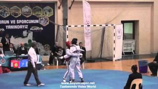 63kg Semifinal Hacer Orgarun Vs Hatice Gunay (2016 Turkish Junior Taekwondo Championships)