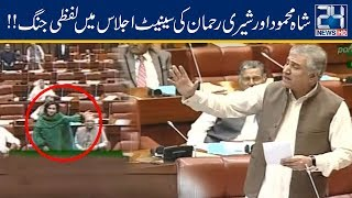 Shah Mehmood Qureshi And Sherry Rehman Fight In Senate | 7 May 2019