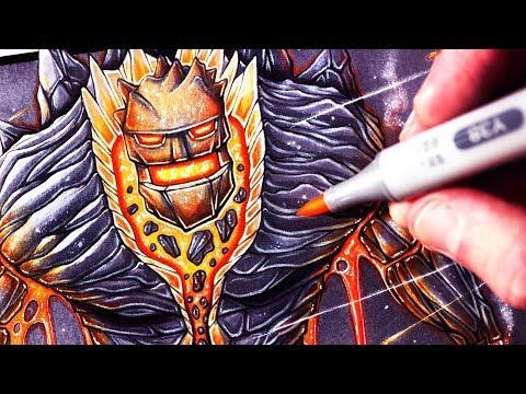 Let's Draw a LAVA GOLEM - FANTASY ART FRIDAY