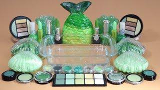 One Color Series Season 7 Mixing GreenMakeup,More Stuff &Green Slime Into Slime!
