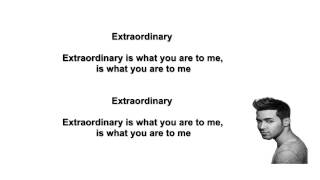 Prince Royce - Extraordinary .Letra (Lyric Video)