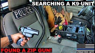 Searching a Sheriff K9 UNIT found zip gun! Crown Rick Auto Police Cars