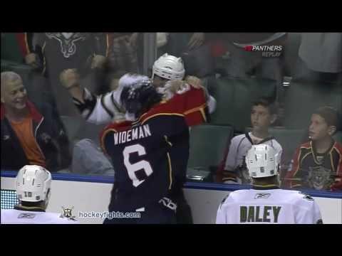 Dennis Wideman vs. Adam Burish