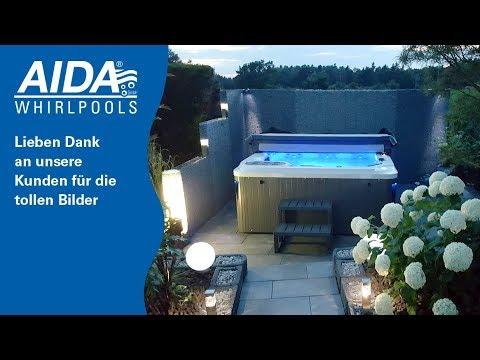 AIDA GmbH | Referenzbilder Outdoor-Whirlpool Außenwhirlpool Whirlpool Garten Terrasse Dachterrasse