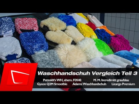 Petzoldts Waschhandschuh FIX40, Microfiber Madness Incedimit, Gyeon Q2M Smoothie, Adams Test