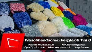 Petzoldts Waschhandschuh FIX40, Microfiber Madness Incedimit, Gyeon Q2M Smoothie, Adams Test