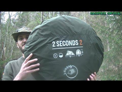Quechua 2 Seconds 2 Wurfzelt - Review Test über Nacht im Schneeregen Engl Sub