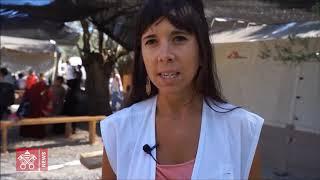 """Los refugiados de Lesbos viven un """"infierno"""""""