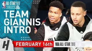 Team Giannis 2019 NBA All-Star Practice Introductions | February 16, 2019