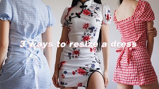 3 ways to alter your summer dresses | RESIZE & MAKE A DRESS MORE FITTED