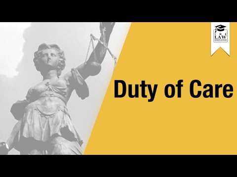 Negligence - Duty of Care