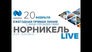 Ежегодная прямая трансляция с вице-президентами Норникель Live