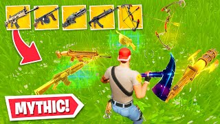 I got *ALL* MYTHIC weapons in ONE game...! (Fortnite Chapter 2 Season 2)