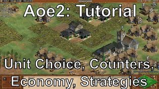 Aoe2 HD: Tutorial: Unit Choice, Counters, Economy Management, Strategies