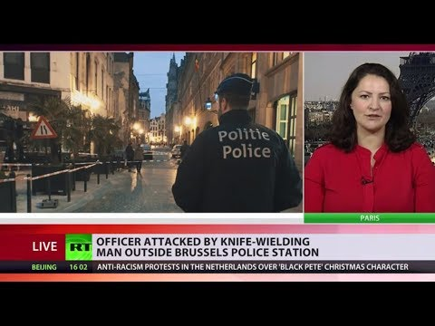 Police officer stabbed by a knife-wielding man in Brussels