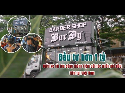 Đầu tư hơn 1 tỷ biến xe tải lưu động thành tiệm cắt tóc miễn phí đầu tiên tại Việt Nam