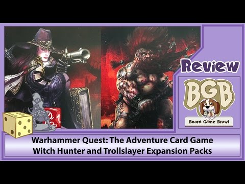 Board Game Brawl Reviews - Warhammer Quest: The Adventure Card Game – Witch Hunter and Trollslayer Expansion Packs