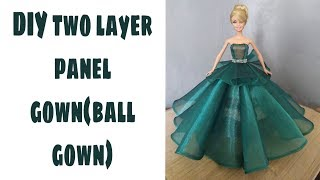 DIY Two Layer Panel Gown(ball Gown)