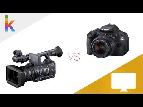 DSLR vs Camcorder - Warum eine Spiegelreflexkamera kaufen?