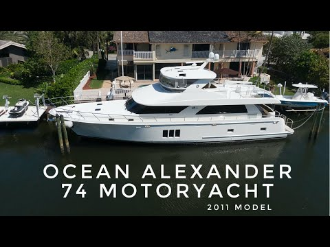 Ocean Alexander 74 Motoryacht video