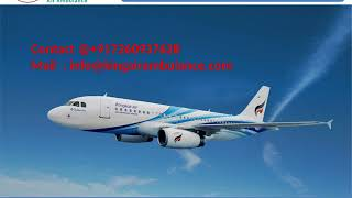 Hire Air Ambulance in Bhopal and Jabalpur with Medical Support
