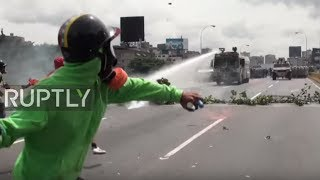 Venezuela: Tear gas and water cannon used as anti-govt. demo continues in Caracas