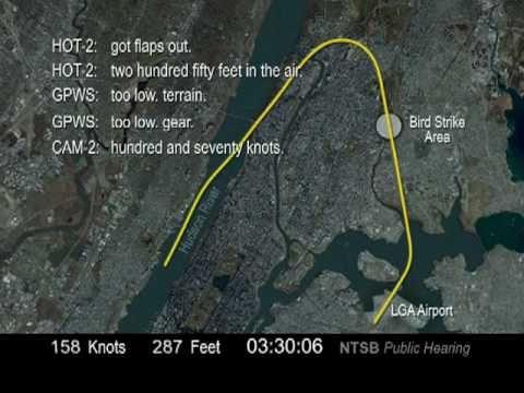 NTSB Animation: US Airways Flight 1549 - The Hudson River Emergency Landing