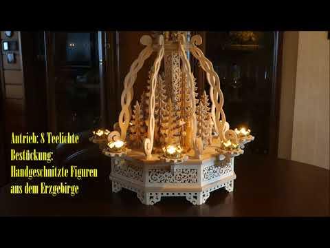 Weihnachtspyramide - Bogenpyramide mit Aufbewahrungsschrank