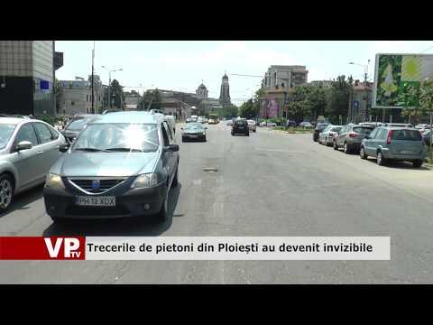 Trecerile de pietoni din Ploiești au devenit invizibile