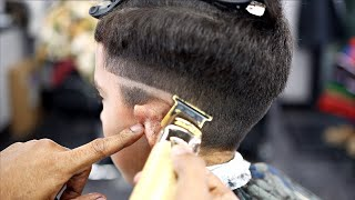 *FULL LENGTH* HAIRCUT TUTORIAL: STEP BY STEP MID FADE COMBOVER | HARD PART| BLOWDRY & STYLE