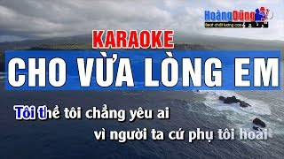 Cho Vừa Lòng Em Karaoke Nhạc Sống