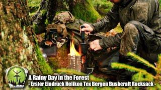 Regnerischer Tag im Wald und mein erster Eindruck vom Bushcraft Rucksack Bergen von Helikon Tex