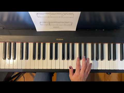 """March of the Toy Soldiers"" from the Nutcracker.  Easy Piano Tutorial of my easy arrangement."