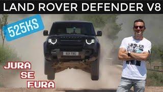 Šumom, drumom i zrakom - Land Rover Defender V8 - Jura se fura