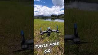 DJI FPV Turtle Mode In GRASS - Test 3 - shorts